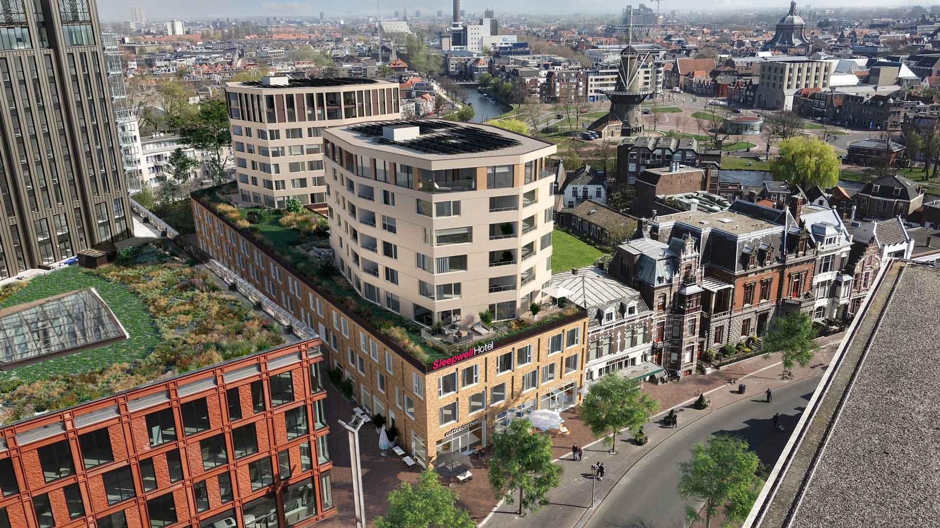 Nieuwbouw Leiden - Vogelvlucht - Octagon Leiden